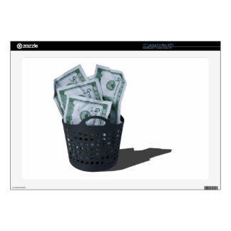 "MoneyInLaundryBasket070315.png 17"" Laptop Decals"