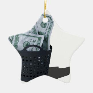 MoneyInLaundryBasket070315.png Adorno Navideño De Cerámica En Forma De Estrella