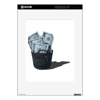 MoneyInLaundryBasket070315.png iPad Calcomanía