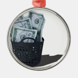 MoneyInLaundryBasket070315.png Metal Ornament