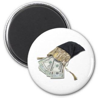 MoneyInVelvetBag042911 Magnet