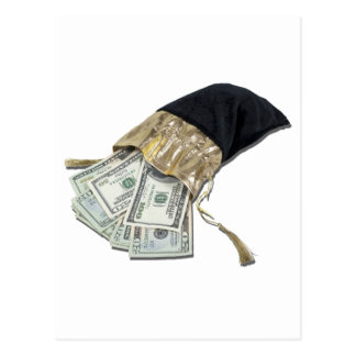MoneyInVelvetBag042911 Tarjetas Postales