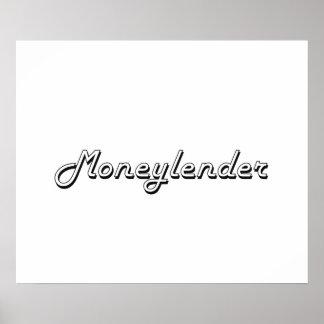 Moneylender Classic Job Design Poster