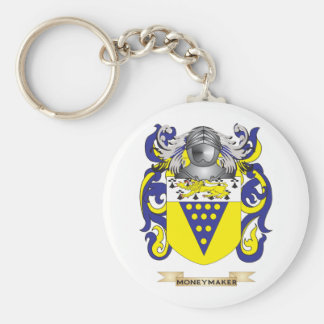 Moneymaker Coat of Arms (Family Crest) Basic Round Button Keychain