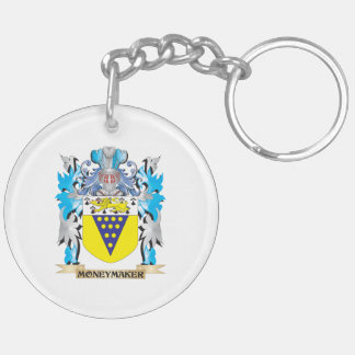 Moneymaker Coat of Arms - Family Crest Double-Sided Round Acrylic Keychain