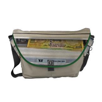 Moneymaker custom messenger bag