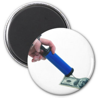 MoneyPumpInflate040909 2 Inch Round Magnet