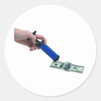MoneyPumpInflate040909 Classic Round Sticker