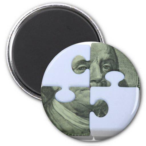 MoneyPuzzle101310 Imán Redondo 5 Cm