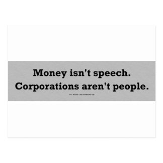 MoneySpeechCorpPerson Postcard