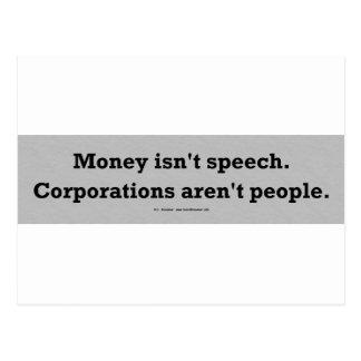 MoneySpeechCorpPerson Postcard