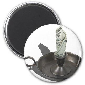 MoneyToBurn030811 2 Inch Round Magnet
