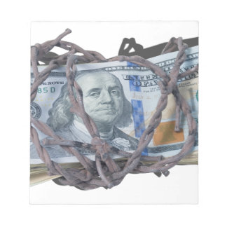 MoneyWrappedBarbedWire052414.png Memo Pad