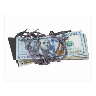 MoneyWrappedBarbedWire052414.png Postcard
