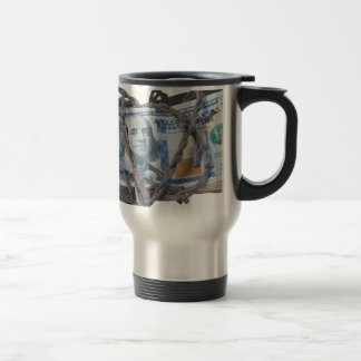 MoneyWrappedBarbedWire052414.png Travel Mug