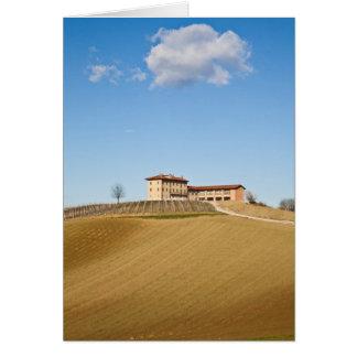 Monferrato under a blue sky card