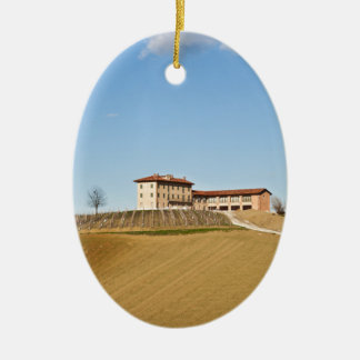 Monferrato under a blue sky ceramic ornament