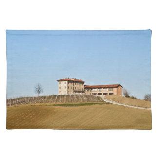 Monferrato under a blue sky cloth placemat