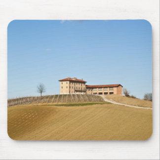Monferrato under a blue sky mouse pad