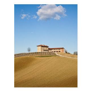 Monferrato under a blue sky postcard