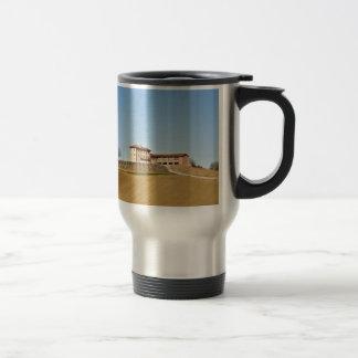 Monferrato under a blue sky travel mug