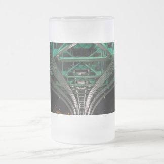 Mong Bridge, Ho Chi Minh City, Vietnam Frosted Glass Beer Mug