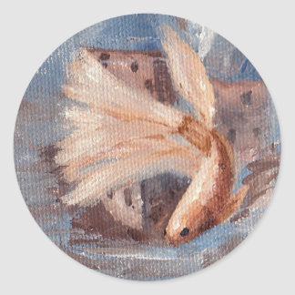 Mongo Betta Fish Classic Round Sticker