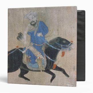 Mongol archer on horseback 3 ring binder