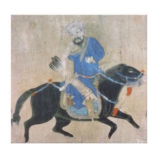 Mongol archer on horseback canvas print