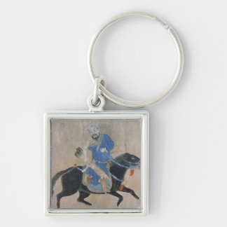 Mongol archer on horseback keychain