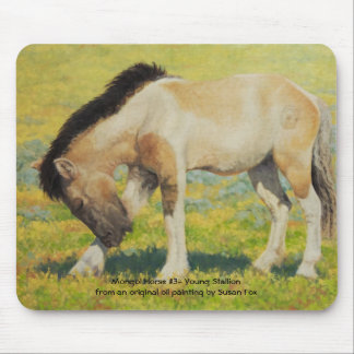 Mongol Horse #3, Young Stallion Mouse Pad