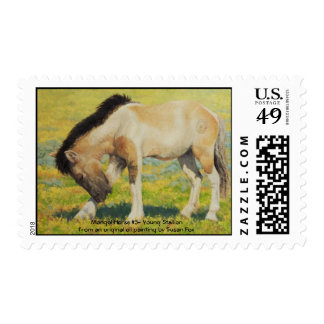 Mongol Horse #3- Young Stallion Postage