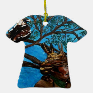 MONGOL.png Double-Sided T-Shirt Ceramic Christmas Ornament