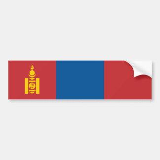 Mongolia/bandera mongol pegatina para auto
