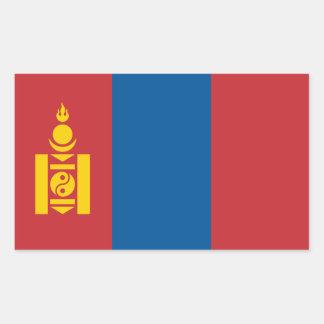 Mongolia/bandera mongol pegatina rectangular