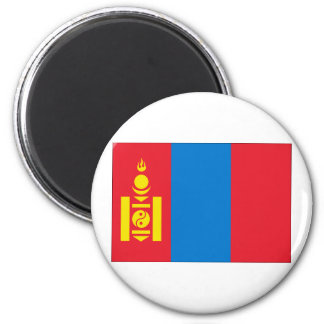 Mongolia Flag 2 Inch Round Magnet