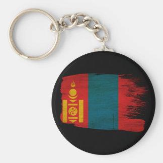 Mongolia Flag Basic Round Button Keychain
