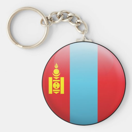 Mongolia Flag Basic Round Button Keychain