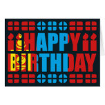 Mongolia Flag Birthday Card