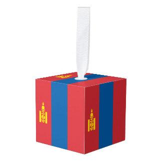 Mongolia Flag Cube Ornament