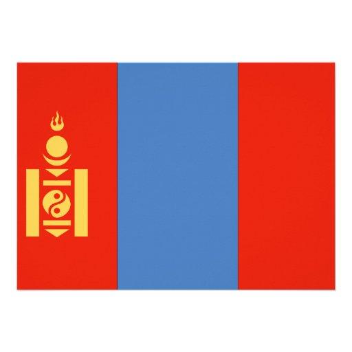 Mongolia Flag Personalized Invite