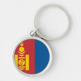 Mongolia Flag Silver-Colored Round Keychain