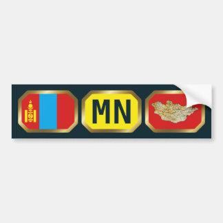 Mongolia Flag Map Code Bumper Sticker