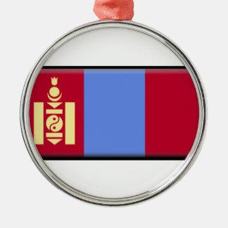 Mongolia Flag Metal Ornament