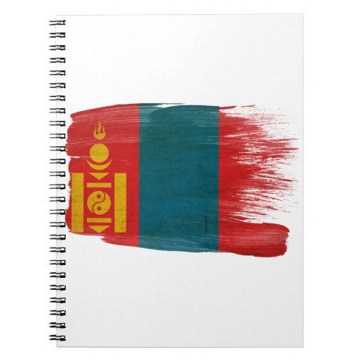 Mongolia Flag Note Book