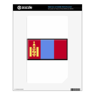 Mongolia Flag Skins For The NOOK Color
