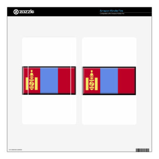 Mongolia Flag Decal For Kindle Fire