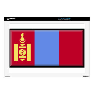 "Mongolia Flag 17"" Laptop Decals"