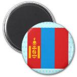 Mongolia High quality Flag Magnet