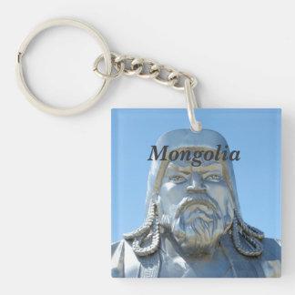 Mongolia Square Acrylic Key Chain